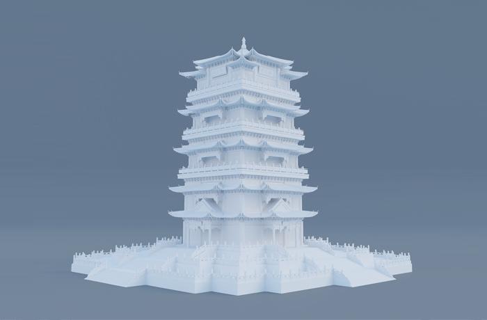 古建筑3D模型